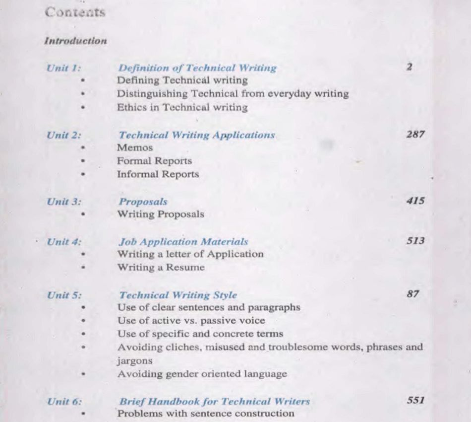 AIOU-B.Ed-Code-6465-Book-contents-page
